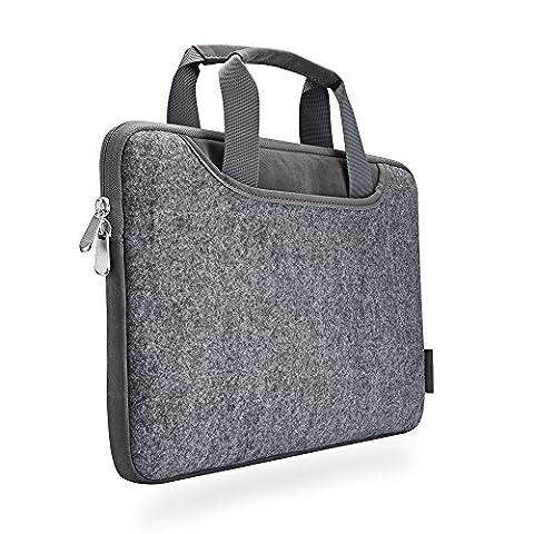 Laptop Sleeve XIAO QIAO Portable Laptop Tasche für 15-15,6 Zoll MacBook Pro, Dell HP, schlanke Schutzhülle, dunkelgrau (15 inch, light gray)