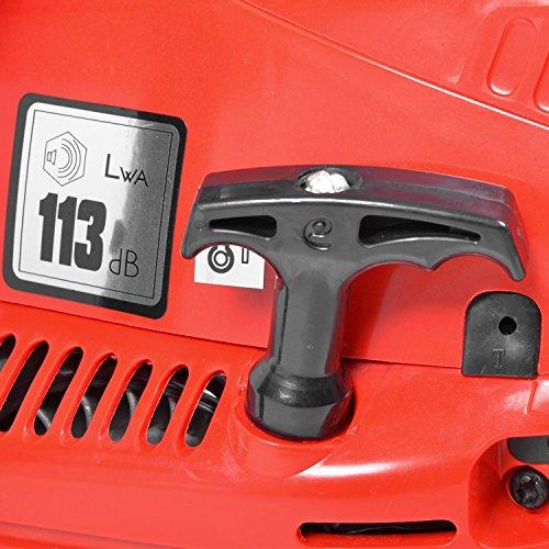 HECHT Benzin-Kettensäge 44 Motorsäge Benzin (2-Takt-Motor mit 2,7 PS, 40cm Schwertlänge) - 4