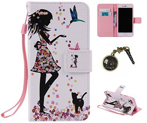 PU Cuir Coque Strass Case Etui Coque étui de portefeuille protection Coque Case Cas Cuir Swag Pour Apple iPhone 7 (4.7 pouces) +Bouchons de poussière (3AE) 7