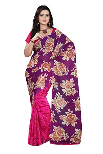 Florence Saree with Blouse Piece (FL-10964_Multicolor_Free Size)