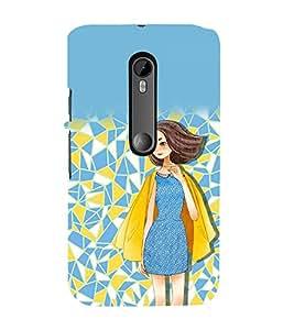 printtech Beautiful Girl Abstract Back Case Cover for Motorola Moto G3 / Motorola Moto G (3rd Gen)