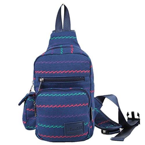 xb-06japanischen Stil, Druck Damen Lady Leinwand Brust Tasche New Beliebte Triangle Bag Rucksack Messenger Bags Mehrzweck-Schule Sport auf Reisen Gym Radfahren Radfahren Tasche Animal Pattern 25CM×16CM×6CM (Sling Atom)