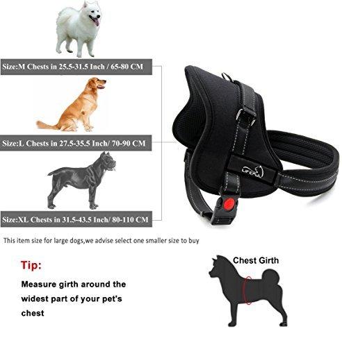 Lifepul No-Pull-Hundegeschirr Haustier sicher Kontrolle Körper gepolsterte soft geschirr mit Schnellverschlüssen Dog Sicherheitsgurt ,XL Size - 2
