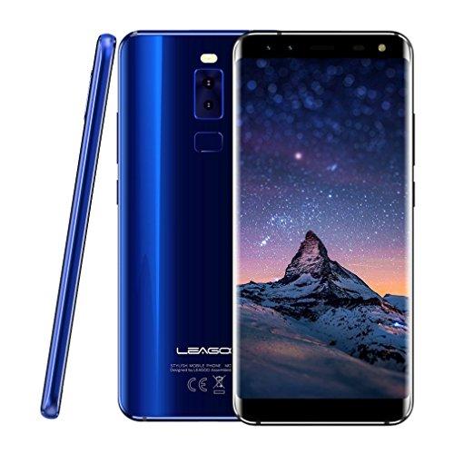 "Smartphone 4G Libres, LEAGOO S8 de 5.72"" (18:9) Móviles Baratos Android 7.0 (Cuatro Cámaras 13MP+2MP&8MP+2MP, 3GB RAM+32GB ROM, MT6750T Octa Core, Dual Sim, Batería 2940mAh, Huella Digital)"