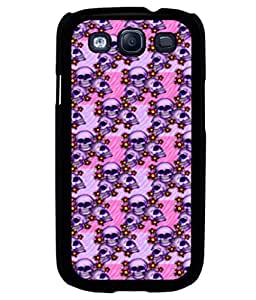 printtech Skull Pink Floral Pattern Back Case Cover for Samsung Galaxy S3 Neo::Samsung Galaxy S3 Neo i9300i