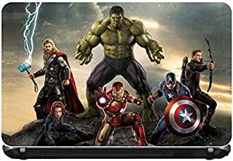 """Junkyard's Super Heroes Vinyl Laptop Skin for 15.6"""" laptops.(Size: 15 inches X 10 inches)"""