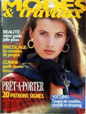 MODES ET TRAVAUX [No 1043] du 01/10/1987 - BEAUTE - LA PEAU - BRICOLAGE - LES MEUBLES DE POUPEE - CUISINE - QUELLE BONNE FARCE - PRET-A-PORTER - VOITURES par Collectif