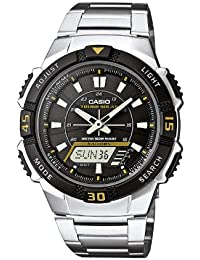 Casio Collection – Herren-Armbanduhr mit Analog/Digital-Display und Edelstahlarmband – AQ-S800WD-1EVEF
