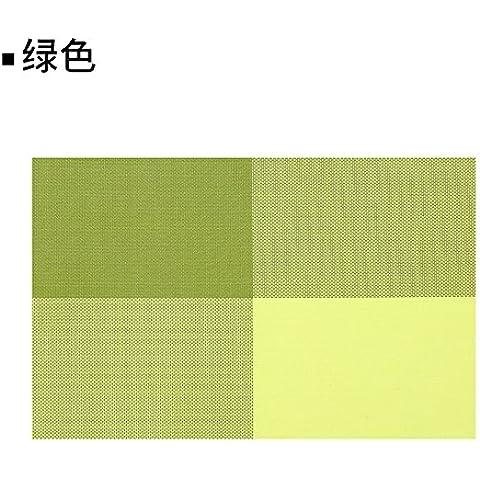 Yifom PVC rettangolare tappeto impermeabile hot pad Western pad 4,verde
