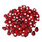 Newin Star mini 3D plastica coccinella Wall Stickers Decor Kids Toys DIY coccinella 100pz