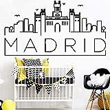 Madrid Arte Vinilo Pegatinas De Pared Extraíble Vinilo Wallpaper Calcomanías Para La Sala De Estar Dormitorio Decoración Del Hogar 30 * 54 Cm