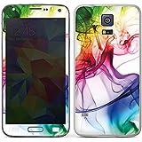 Samsung Galaxy S5 Case Skin Sticker aus Vinyl-Folie Aufkleber Farben Bunt Nebel