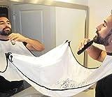 yter Shaving Pflege Schürze Bart Pflege Trimmer Haar Rasieren Schürze Bartschneider (weiß)