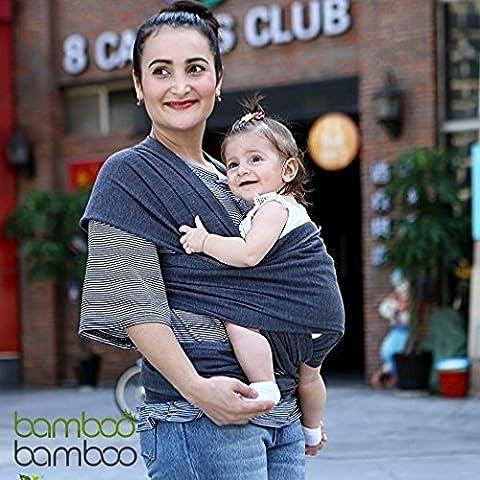 Portabebé manos libres de bambú, un talle sirve para todos, con bolsa para recién nacidos y niños pequeños de hasta 35 libras combinada de regalo