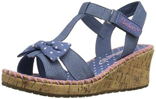 Skechers Mädchen Tikis-Dots-N-Dazzle Sandalen, Blau (Dnpk), 33 EU