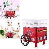 Acecoree Machine à Barbe à Papa Electrique professionnelle avec chariot 420 W rouge Appareil Cotton Candy