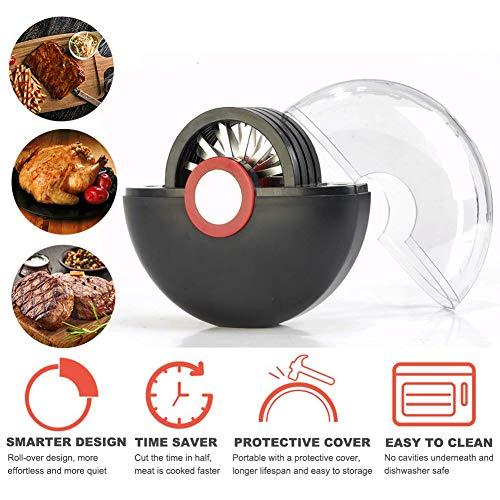 Aiguille pour attendrisseur à viande en rouleau avec cache anti-poussière, 36 lames en acier inoxydable de qualité supérieure extra forte, adoucit la viande avant la cuisson,Black