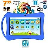 Tablette enfant 7 pouces Android 5.1 Bluetooth Quad Core 40Go Bleu