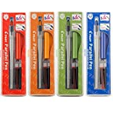 Pilot Parallel Calligraphy Pen Set, 1.5 mm, 2.4 mm, 3.8 mm and 6 mm with Bonus Ink Cartridge (P9005SET) by Pilot