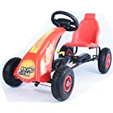 R Max Racing Go Kart -- Classic Design kart- Solid Steel Frame Pedal Toy - Adjustable Pedal Clutch - Kids go kart - pedal toy - Outdoor fun - Ride On Toys - 4-10 yrs