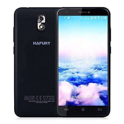 CUBOT HAFURY Mix 16GB Smartphone Ohne Vertrag mit 5.0 Zoll HD IPS Schirm, 2600mAh Akku, Android 7.0, dual SIM,dual Kamera (13MP + 5MP), WiFi/GPS / 3G (Schwarz)
