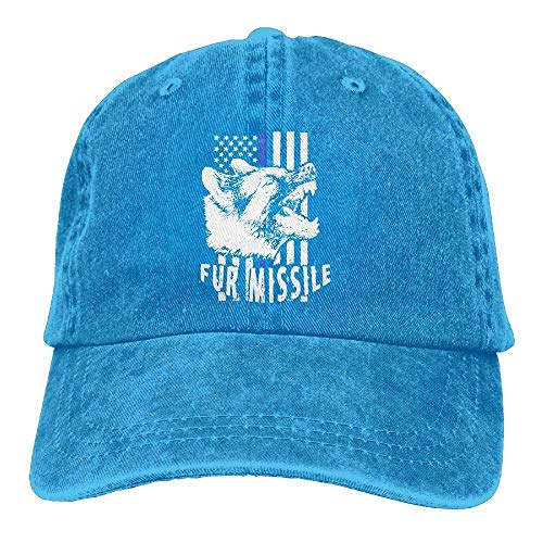Hoswee Baseballmütze Hüte Kappe K-9 Vertical Thin Blue Line Flag Unisex Printing Baseball Cap Adjustable Hat Sandwich Peaked Caps Sun Hat -