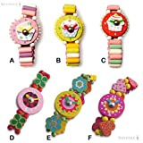 Unbekannt Cupcakes & Blumen, Armbanduhr, Holz spielzeug Armbanduhr, verschiedene Designs