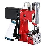HUKOER Borsa Chiusura per Macchina da Cucire Portatile Stitcher Sacchetto per l'imballaggio Elettrico Cucitura Sigillatura per Sacchetto di Pelle di Serpente Tessuta Sacco Sacchetto di Carta (Rosso)