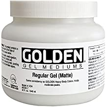 Golden Acrylic Medium: 946ml. Gel Ordinario o Regular Mate