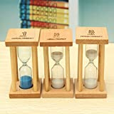 Bluelover Horloge De Min En Bois Sable Sablier Sablier Minuteur Horloge Decor Unique Cadeau Cuisine Sable 1/3/5-3