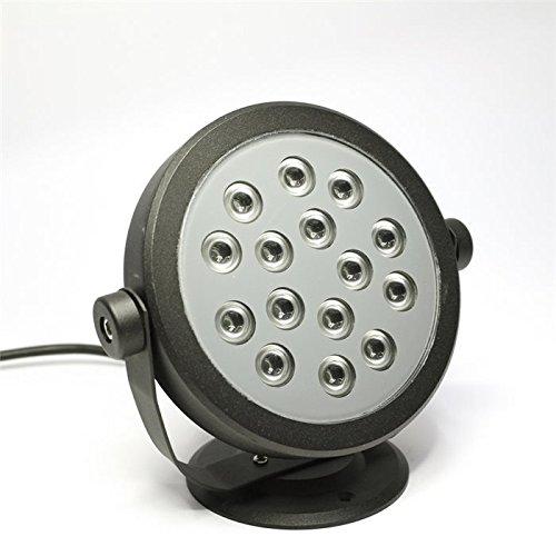 Netzspannung Scheinwerfer (Lampenlux LED Aufbaustrahler Eddi Fluter Gartenlampe Schwarz 15W Scheinwerfer)