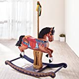 Teamson Kids TD-11677A Wooden Rocking Horse for Kids, Multicoloured