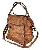 Toni&Friends XL Shopper große Schultertasche aus hochwertiger Feinsynthetik in perfekter Ledernachbildung, 33x33x20cm, braun