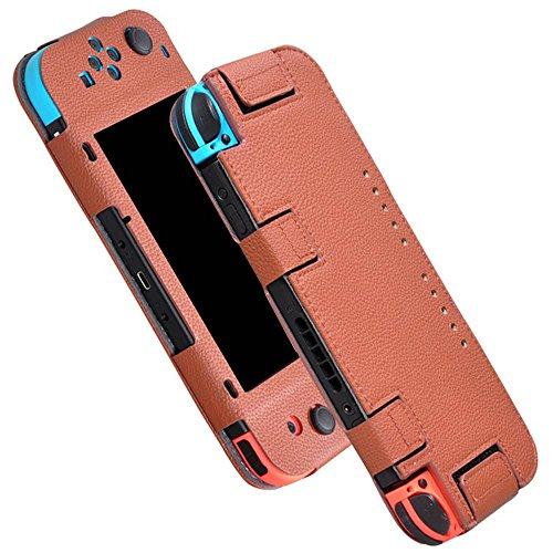Preisvergleich Produktbild Kobwa 2017 Neu PU-lederner Voller Shell-Abdeckungs-Hülsen-Haut-Kasten für Nintendo-Schalter
