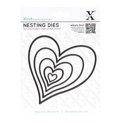 Nesting Dies (5pcs) - Homespun Heart XCut Emboss Shim Cut Detail Stencil