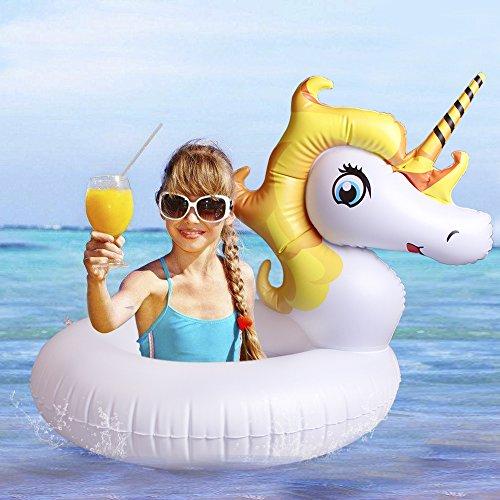 Pferd Pegasus Kostüm (Mini Einhorn schwimmring pool-schwimmtier für Kinder kleines aufblasbarer Einhorn Schwimm Pool mit Flügel)