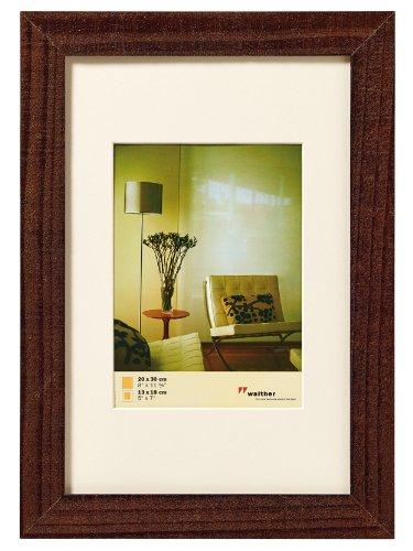 WOLTU #318 Bilderrahmen Bildergalerie Fotogalerie, Foto Collage Galerie, Holz und Echtglas, Vintage Home, Nussbaum, 30x40 cm -