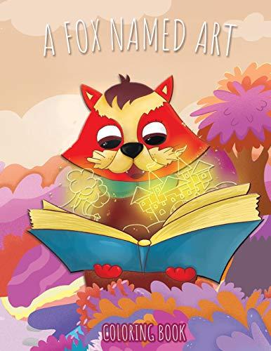 A fox named ART: Coloring book Open Toe Holz