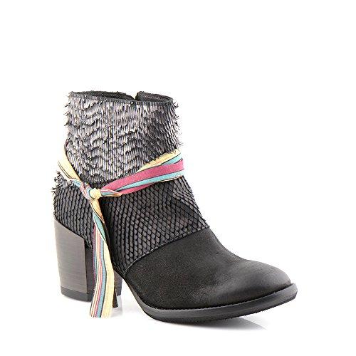 Felmini - Scarpe Donna - Innamorarsi com Carmen 9894 - Stivaletti con tacco - Pelle Genuina - Multicolore Multicolore