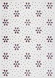 Kids Love Rugs Kinder und Jugend Teppich Flower Dots Creme/Altrosa 120 x 170 cm