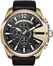 Diesel Men's Chronograph Quartz Watch with Stainless Steel & Leather Stra