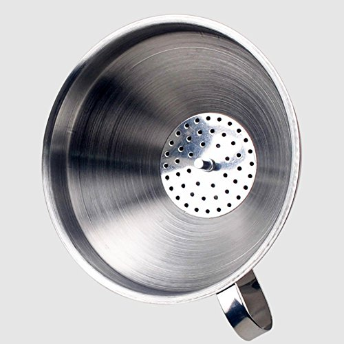 FANGXIN 3 pcs Trichter Trichterset Edelstahltrichter mit Henkel Edelstahl Ø 10 cm - 3