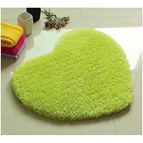 MEHE HOME-carino Forma di cuore Mats camera da letto bagno pad antiscivolo - Cuore Coperto