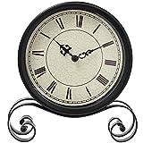 MMJ Klassische Retro Uhr, Retro Schmiedeeisen Uhr Dekoration Küche Tischuhr Europäische Retro Mute Tischuhr Nicht-Schlagwerk Quarzwerk Batterie