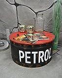 Livitat® Couchtisch Beistelltisch Metall Ölfass Vintage Industrie Look LOFT Shabby LV5021