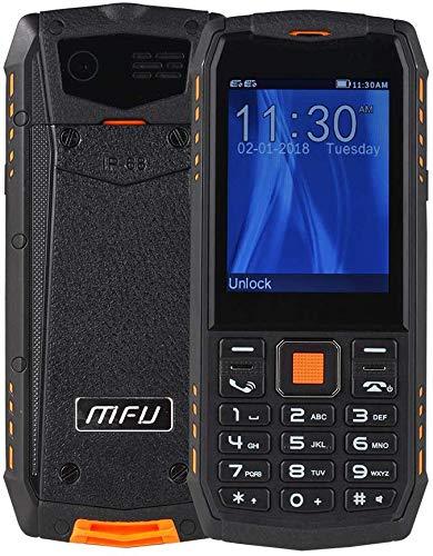 YHHK Senior Big Button-Handy, Rugged Telefon Entriegelte Handy-IP68 wasserdichte Shockproof Staubdichtes 3G Leistungsfähigste Batterie Super-Taschenlampe SOS Sim2 Multimedia
