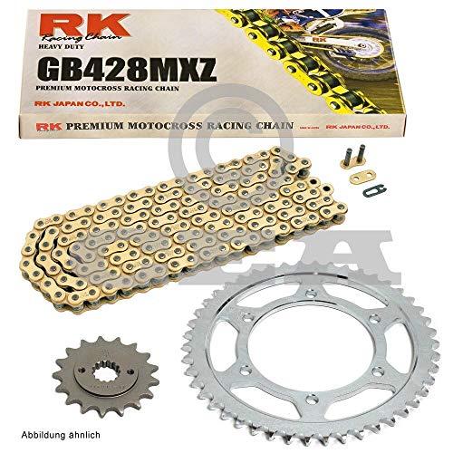 Kettensatz geeignet für Yamaha YZF R125 08-18 Kette RK GB 428 MXZ 132 offen GOLD 14/48 -