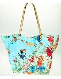 Sac Shopping Christian Lacroix Eden 1 Fleur Bleu