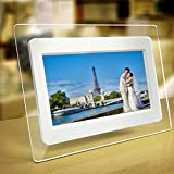 Electronics Photo Best Deals - 7 inch 800*480 Digital Photo Frame Support 32GB SD Card USB Flash Disk TFT LCD Wide Screen Digital 2000 Photos Display Frame with Calendar