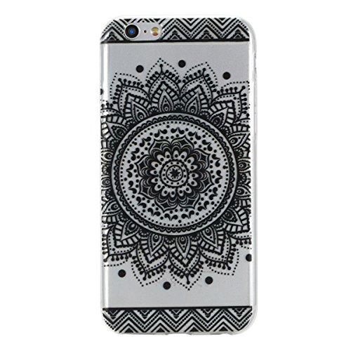 iPhone 6S Plus Hülle, iPhone 6 Plus Hülle, Gift_Source [ Wassermelone ] Hülle Case Transparent Weiche Silikon Schutzhülle Handyhülle Schutzhülle Durchsichtig TPU Crystal Clear Case Backcover Bumper Ca E1-Mandala